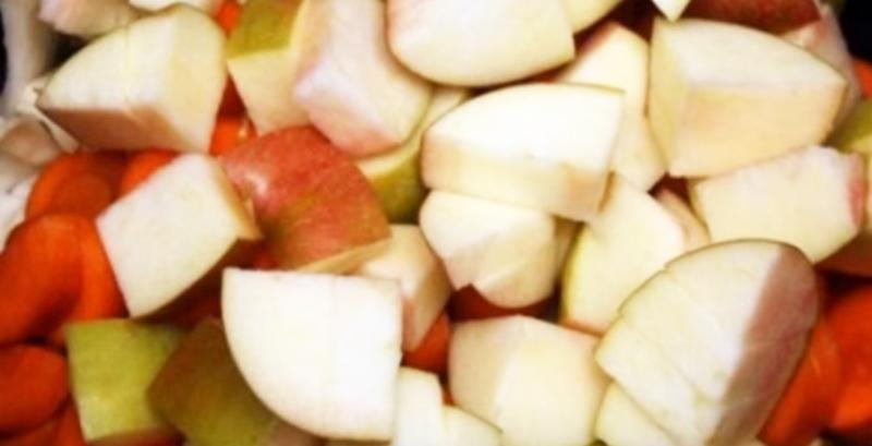 капуста кусками с яблоками