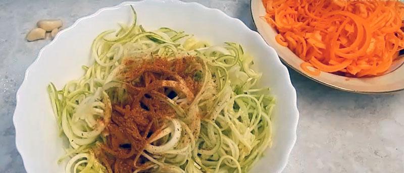 кабачки с морковью по-корейски