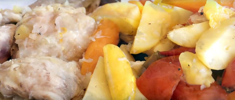 рагу из овощей с курицей