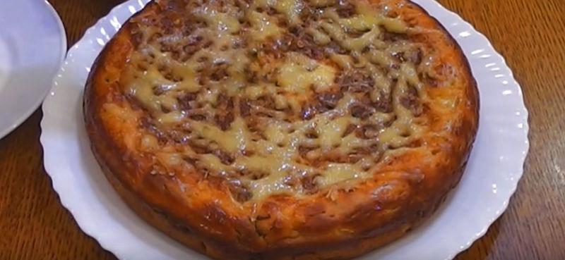 пирог с капустой на сковороде