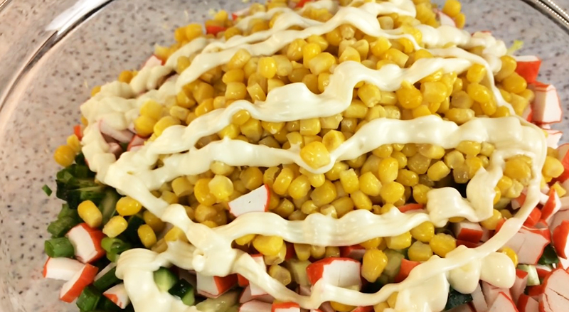 салат крабовый с капустой