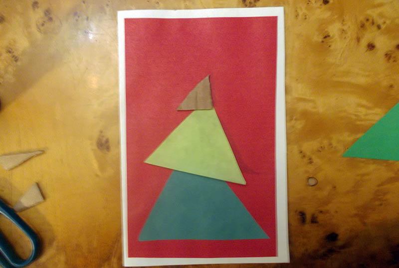открытка елка с шарами