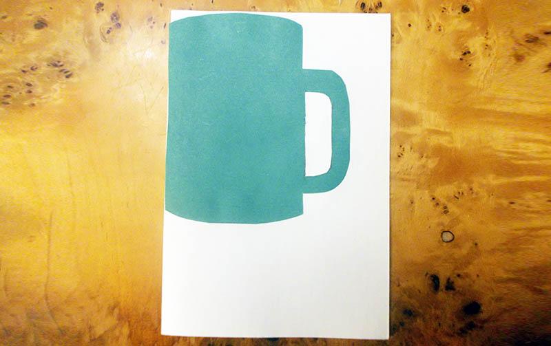 открытка кружка