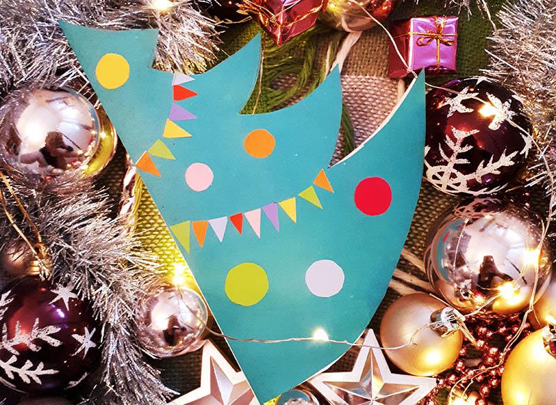 открытка праздничная елка