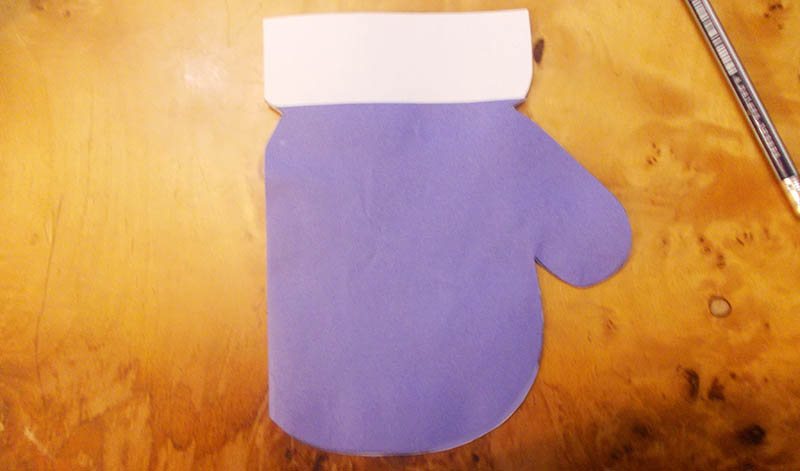открытка рукавичка
