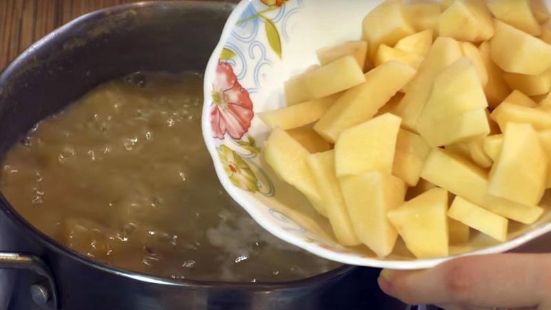 гороховый суп с копченой курицей