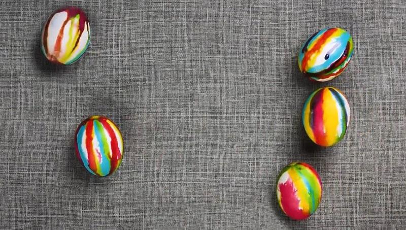 красивое окрашивание яиц к пасхе