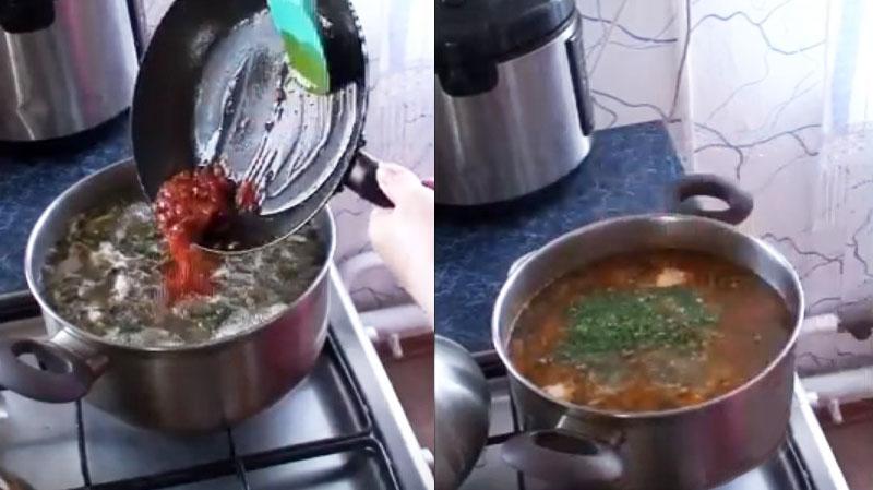 щавелевый суп с капустой