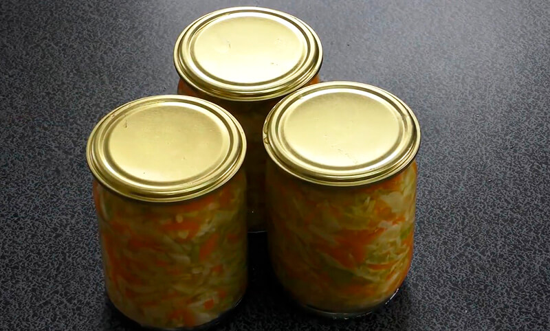 салат с капустой и морковью на зиму