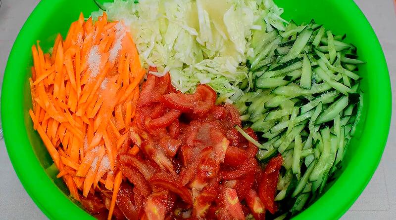 салат огород