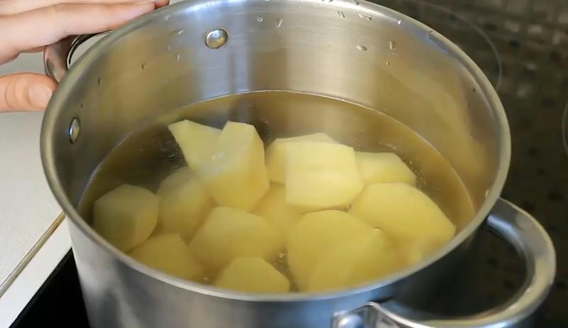 запеканка с картофельным пюре