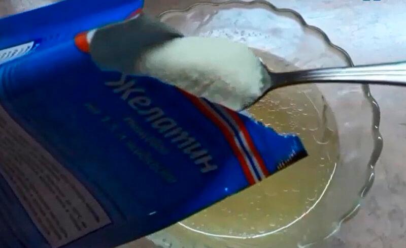 холодец с желатином