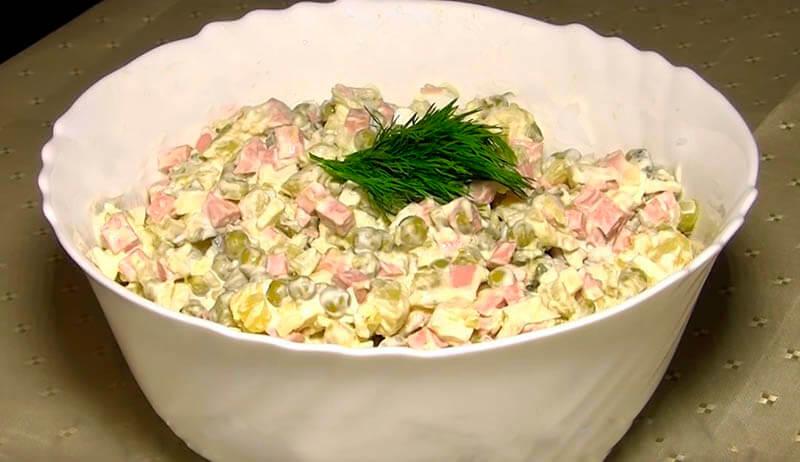 салат оливье простой