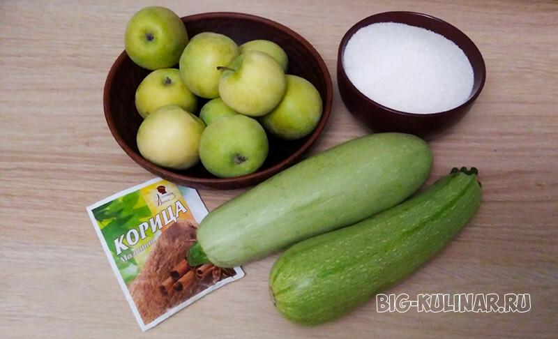 кабачковое варенье с яблоками