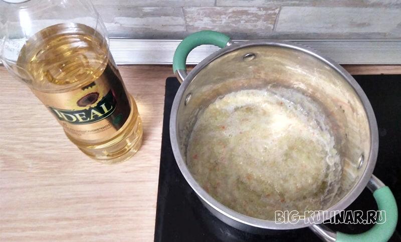 жареные баклажаны с болгарским перцем