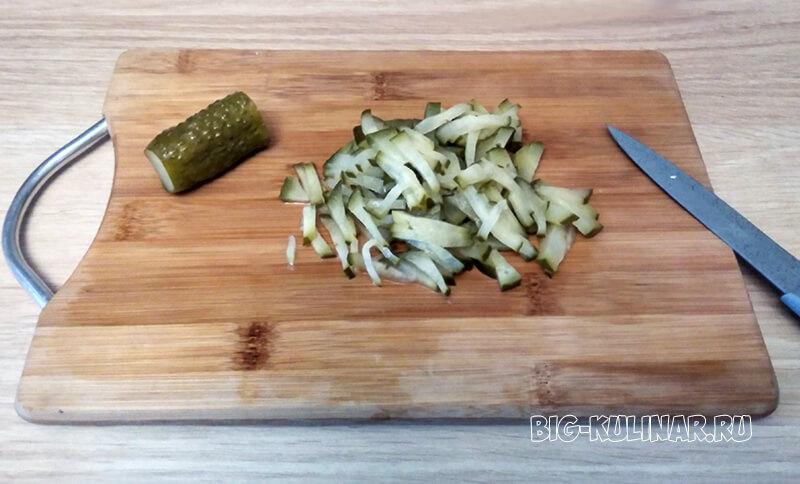 лондонский салат с грибами