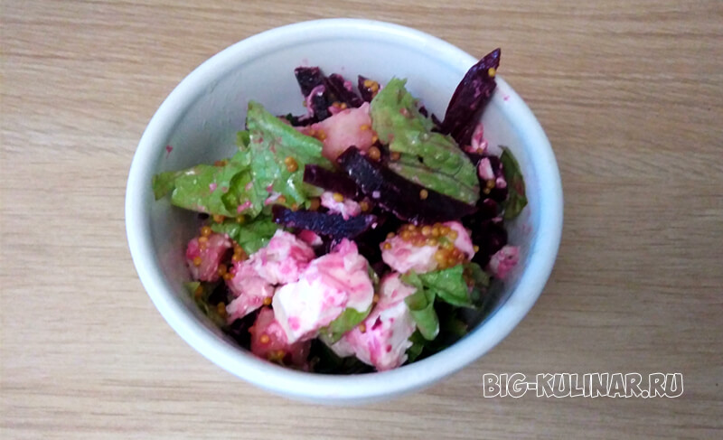лондонский салат с грушей